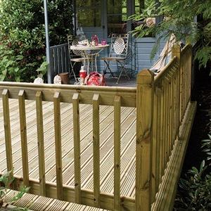 Outdoor Decking Balustrade – Classic Glass & American
